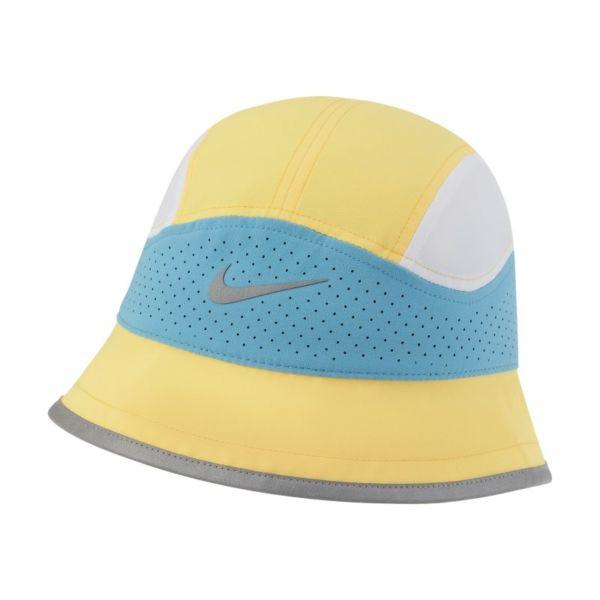 Nike Dri-FIT Sombrero tipo pescador de running con perforaciones - Amarillo