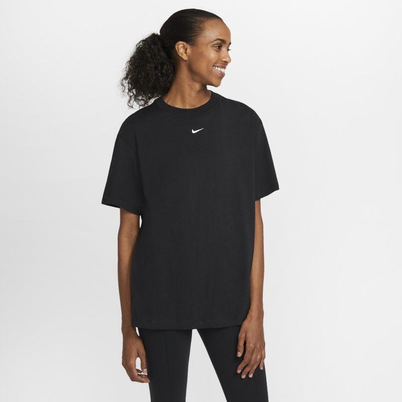 Nike Sportswear Essential Camiseta de manga corta extragrande - Mujer - Negro