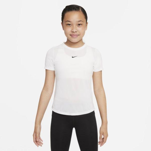Nike Dri-FIT One Camiseta de manga corta - Niña - Blanco