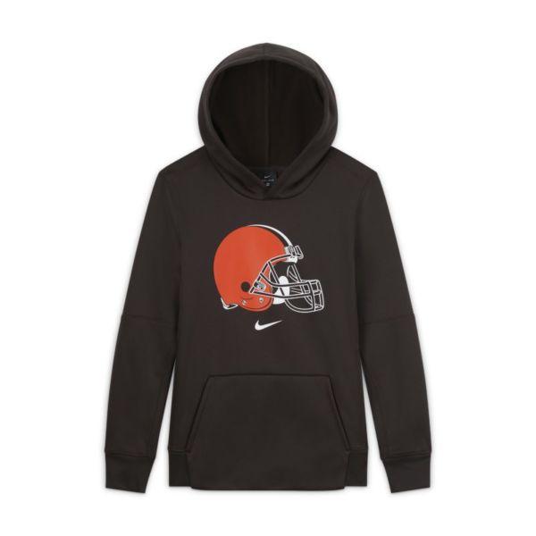 Nike Essential Cleveland Browns Sudadera con capucha con logotipo - Niño - Marrón