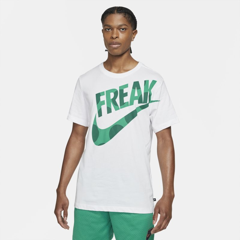 "Nike Dri-FIT Giannis ""Freak"" Camiseta de baloncesto con estampado - Hombre - Blanco"