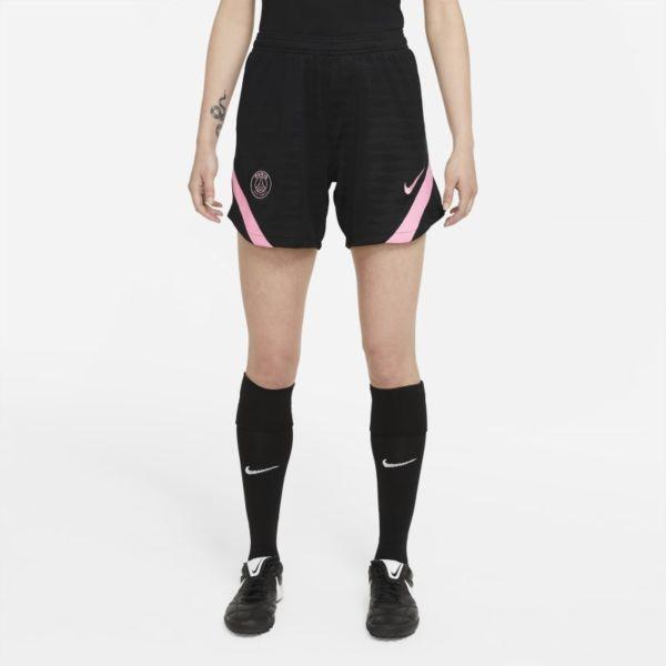 Segunda equipación Strike París Saint-Germain Pantalón corto de fútbol de tejido Knit Nike Dri-FIT - Mujer - Negro