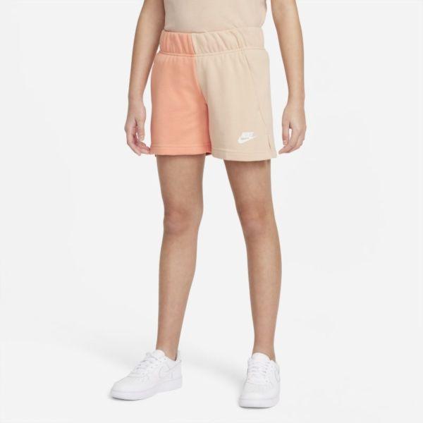 Nike Sportswear Pantalón corto de tejido French terry - Niña - Marrón