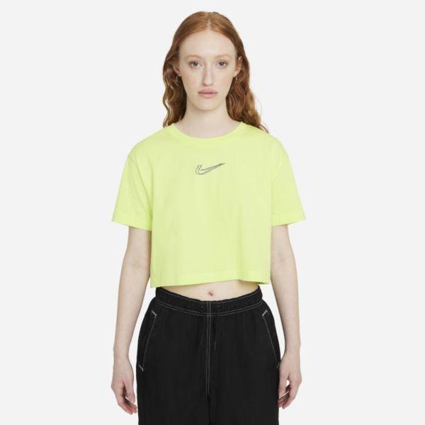 Nike Sportswear Camiseta corta para danza - Mujer - Amarillo