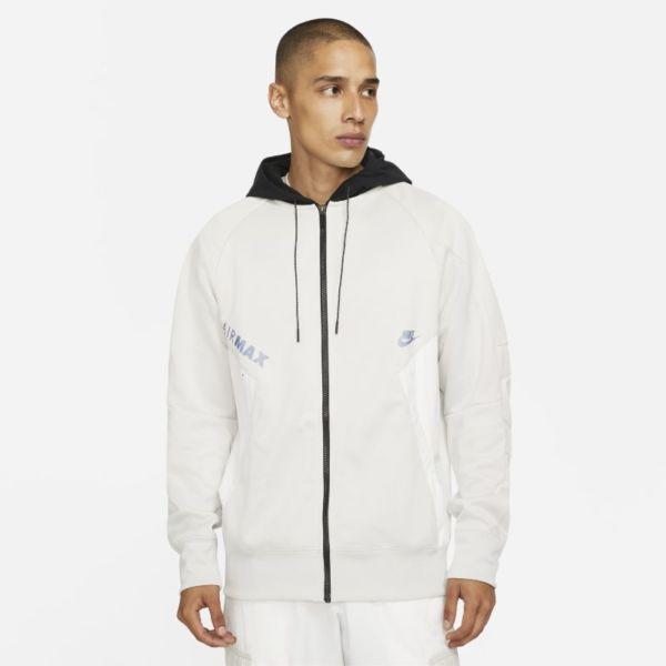 Nike Air Max Sudadera con capucha con cremallera completa - Hombre - Gris