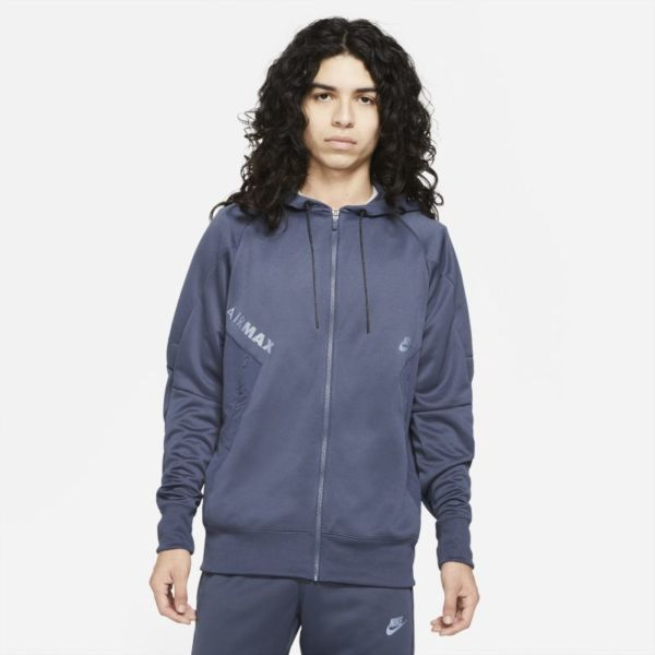 Nike Air Max Sudadera con capucha con cremallera completa - Hombre - Azul