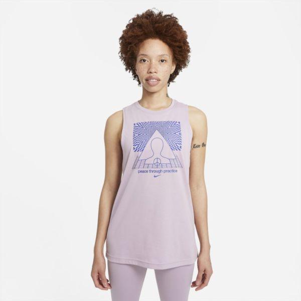 Nike Yoga Camiseta de tirantes con estampado - Mujer - Morado