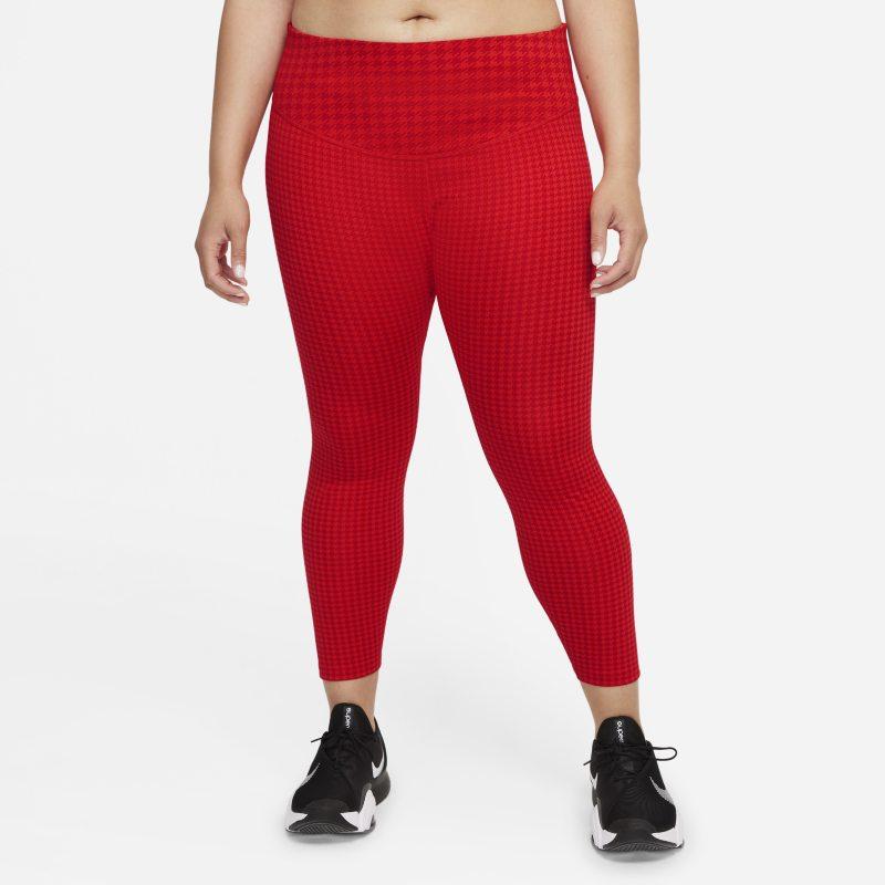 Nike Dri-FIT One Icon Clash Leggings con estampado de 7/8 de talle medio - Mujer - Rojo