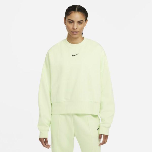 Nike Sportswear Collection Essentials Sudadera de tejido Fleece oversize - Mujer - Verde