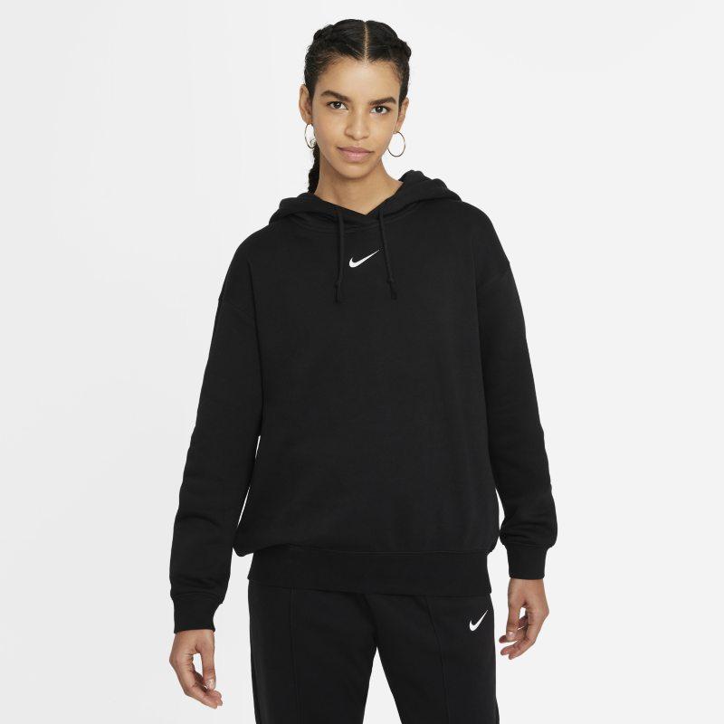 Nike Sportswear Essential Collection Sudadera con capucha de tejido Fleece oversize - Mujer - Negro