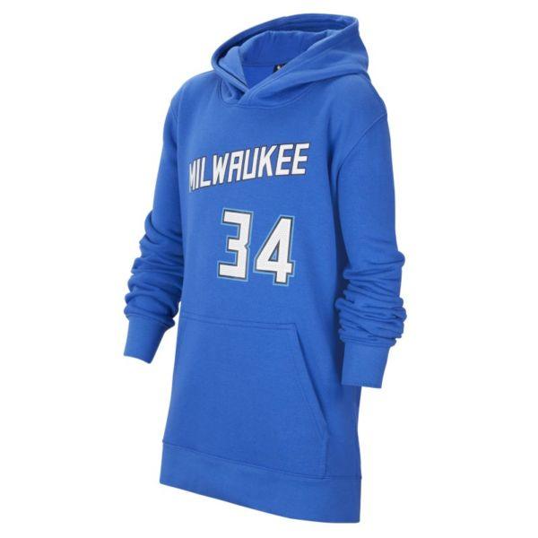 Giannis Antetokounmpo Bucks City Edition Sudadera con capucha Nike de la NBA - Niño/a - Azul