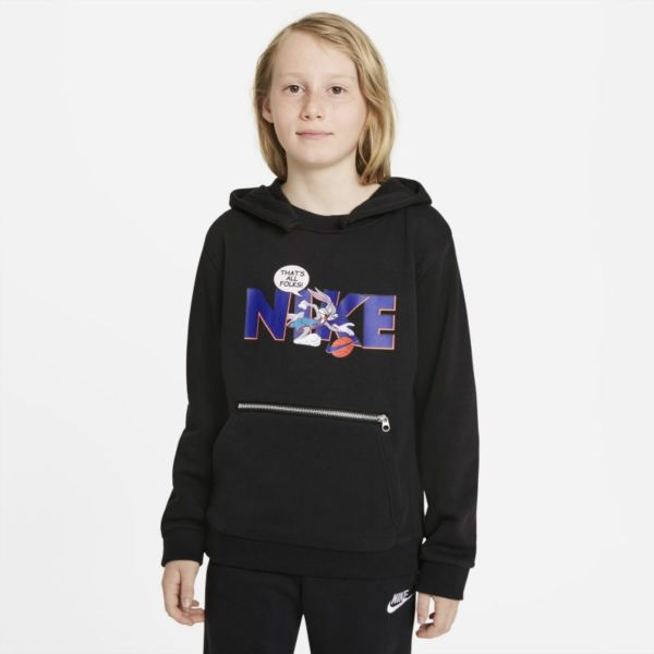 Nike Dri-FIT x Space Jam: A New Legacy Sudadera con capucha - Niño/a - Negro