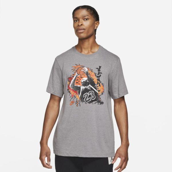 Jordan Vintage Camiseta con estampado - Hombre - Gris