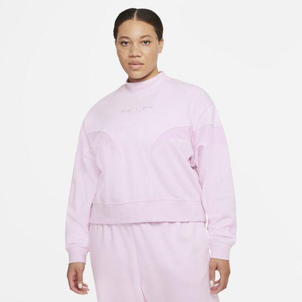 Nike Air Camiseta de cuello alto de tejido Fleece - Mujer - Rosa