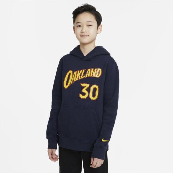 Golden State Warriors City Edition Sudadera con capucha Nike NBA Player - Niño - Azul
