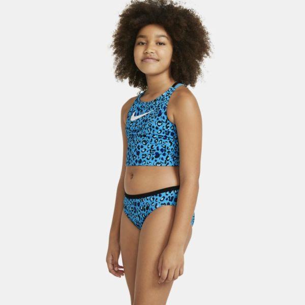 Nike Midkini Conjunto de natación con tirantes cruzados - Niña - Azul