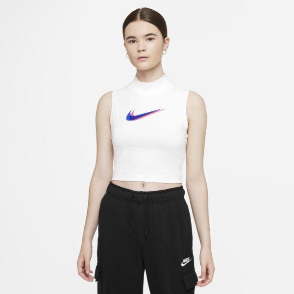 Nike Sportswear Camiseta de tirantes de cuello alto - Mujer - Blanco
