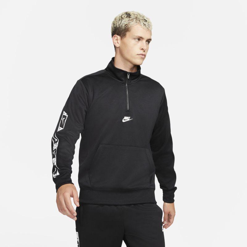 Nike Sportswear Camiseta con media cremallera - Hombre - Negro