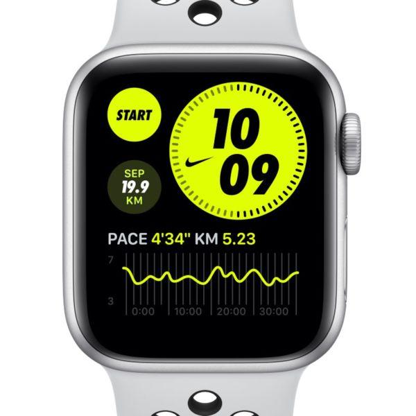 Apple Watch Nike Series 6 (GPS) con correa Nike Sport de 44 mm con caja de aluminio plateado - Gris