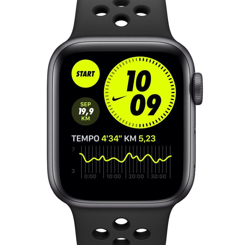Apple Watch Nike SE (GPS) con correa Nike Sport de 40 mm y caja de aluminio en gris espacial - Gris