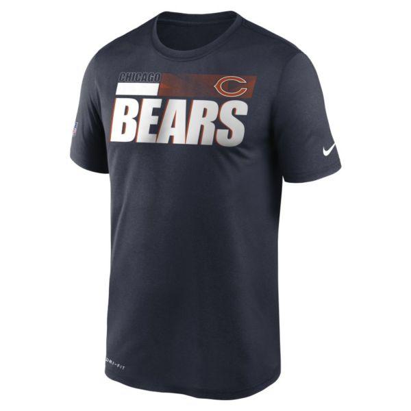 Nike Dri-FIT Team Name Legend Sideline (NFL Chicago Bears) Camiseta - Hombre - Azul