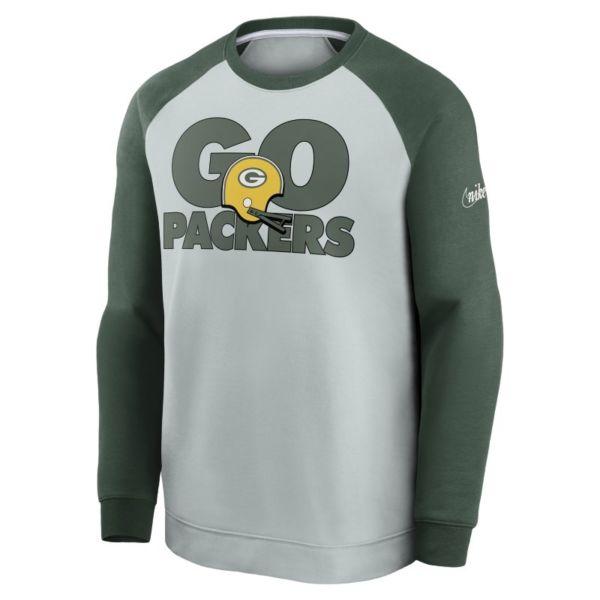 Nike Historic Raglan (NFL Packers) Sudadera de chándal - Hombre - Gris