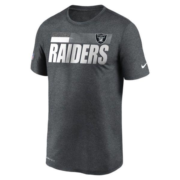 Nike Dri-FIT Team Name Legend Sideline (NFL Las Vegas Raiders) Camiseta - Hombre - Gris