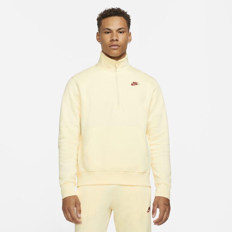 Nike Sportswear Chaqueta de media cremallera de tejido Fleece - Hombre - Blanco