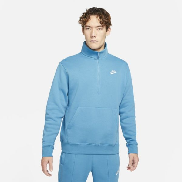 Nike Sportswear Chaqueta de media cremallera de tejido Fleece - Hombre - Azul