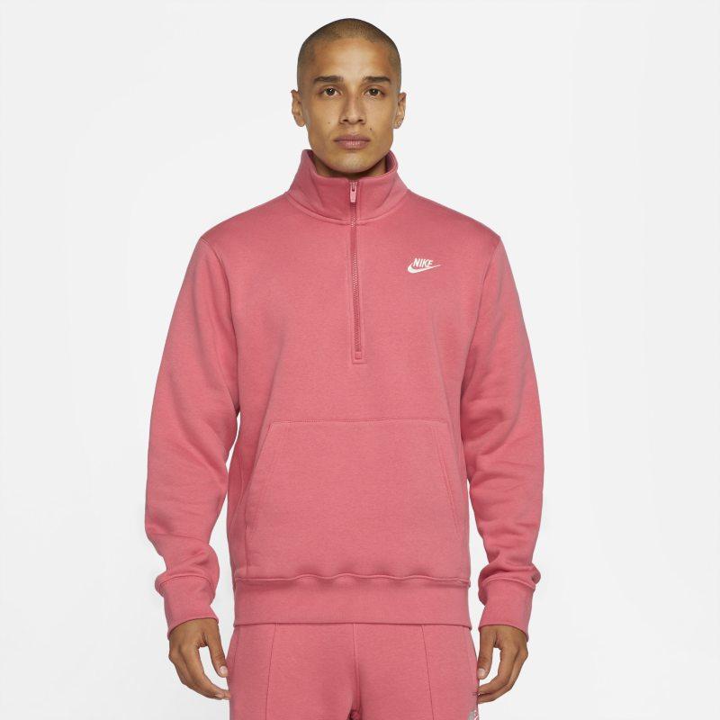 Nike Sportswear Chaqueta de media cremallera de tejido Fleece - Hombre - Rosa