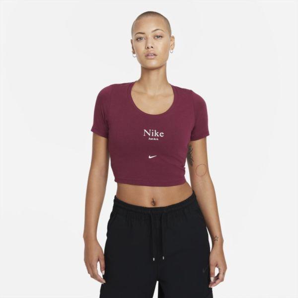 Nike Sportswear Essential Camiseta corta de manga corta - Mujer - Rojo