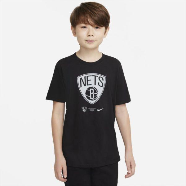 Brooklyn Nets Camiseta Nike Dri-FIT NBA - Niño/a - Negro