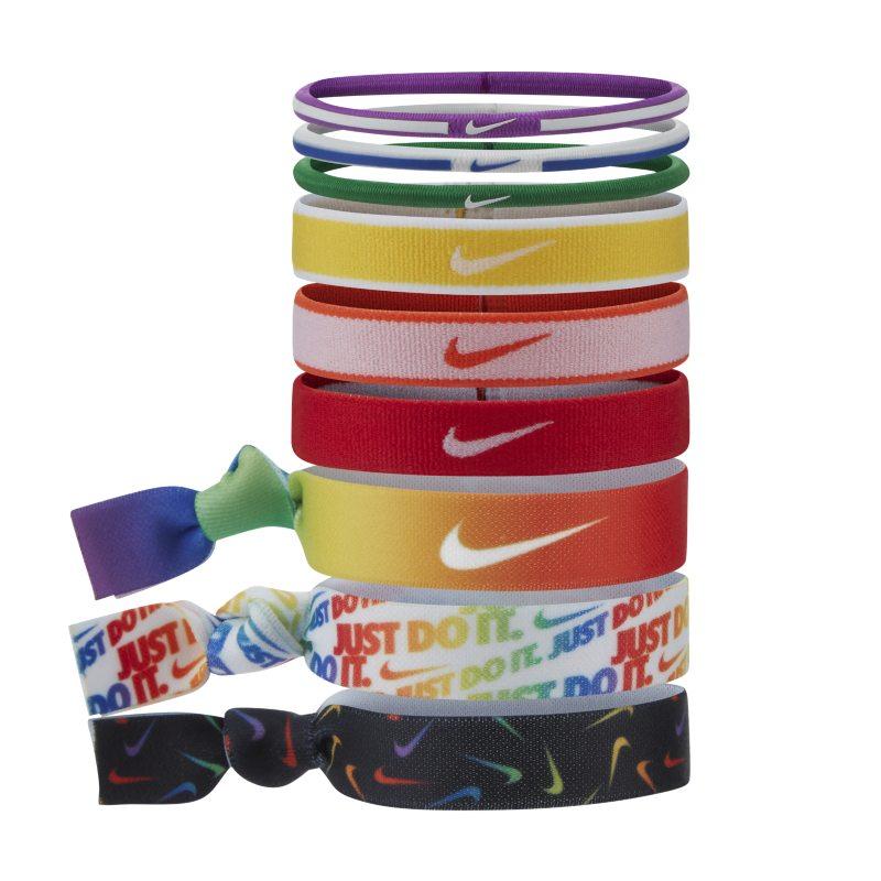 Nike Gomas para el pelo (Paquete de 9) - Rojo