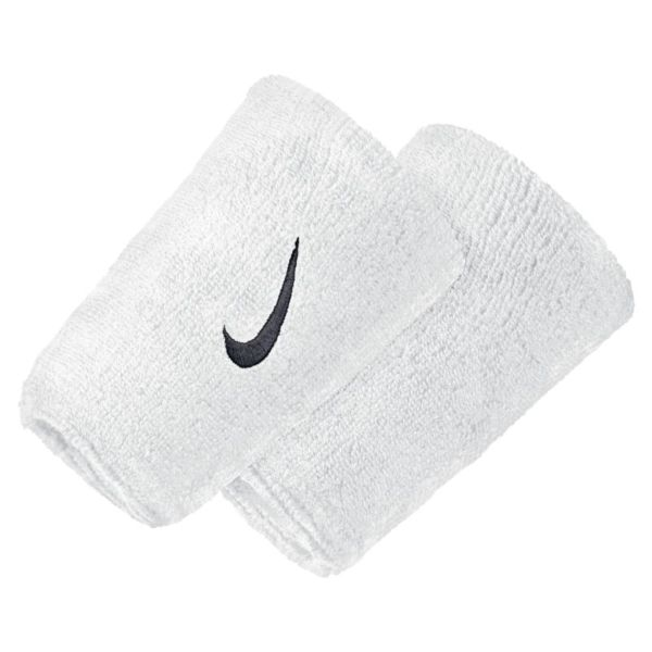 Nike Swoosh Muñequeras extraanchas - Blanco