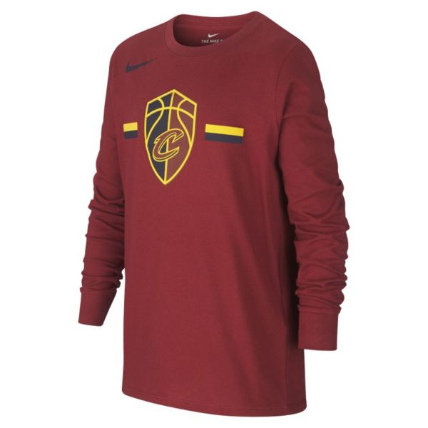 Cleveland Cavaliers Nike Dri-FIT Logo Camiseta de la NBA de manga larga - Niño/a - Rojo
