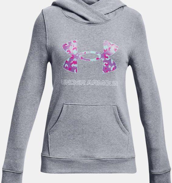 Sudadera con capucha de tejido Fleece UA Rival Logo para niña