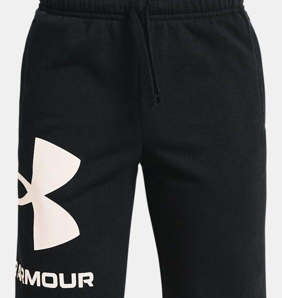 Pantalón corto de tejido Fleece UA Rival Big Logo para niño