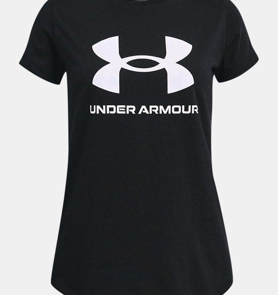 Camiseta de manga corta con estampado UA Sportstyle para niña