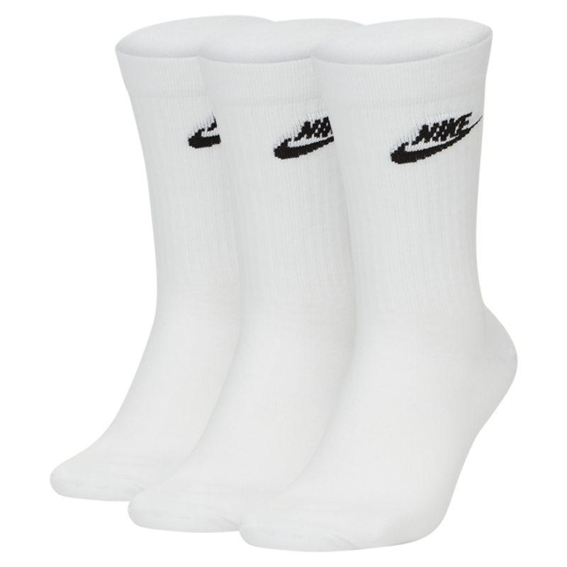 Nike Sportswear Everyday Essential Calcetines largos (3 pares) - Blanco