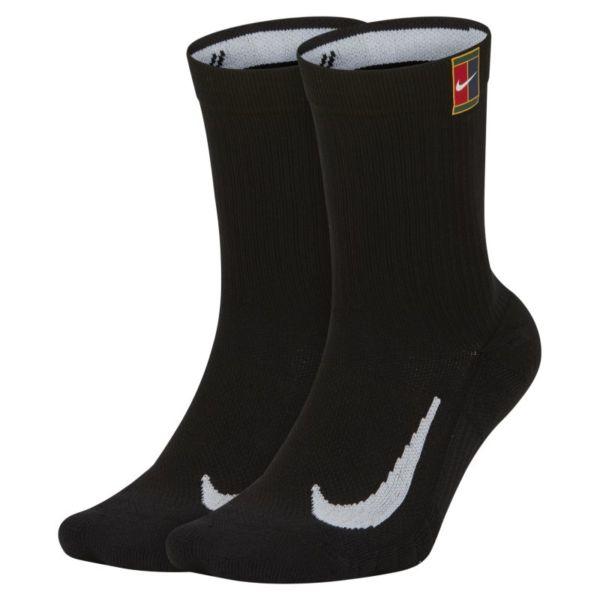 NikeCourt Multiplier Cushioned Calcetines largos de tenis (2 pares) - Negro
