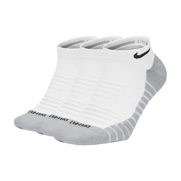 Nike Everyday Max Cushioned Calcetines cortos de entrenamiento (3 pares) - Blanco