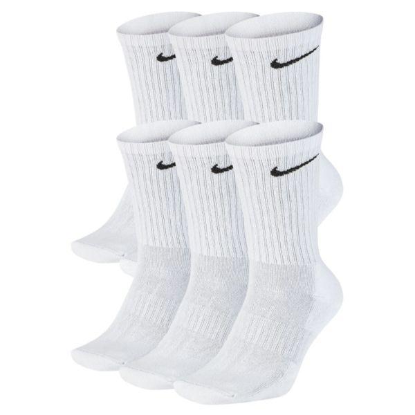 Nike Everyday Cushioned Calcetines largos de entrenamiento (6 pares) - Blanco