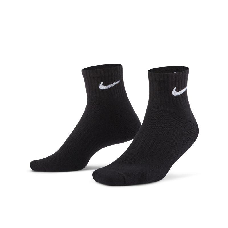 Nike Everyday Cushioned Calcetines de entrenamiento hasta el tobillo (3 pares) - Negro