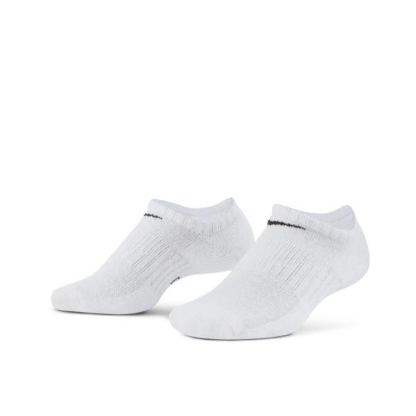 Nike Everyday Cushioned Calcetines cortos de entrenamiento (3 pares) - Blanco