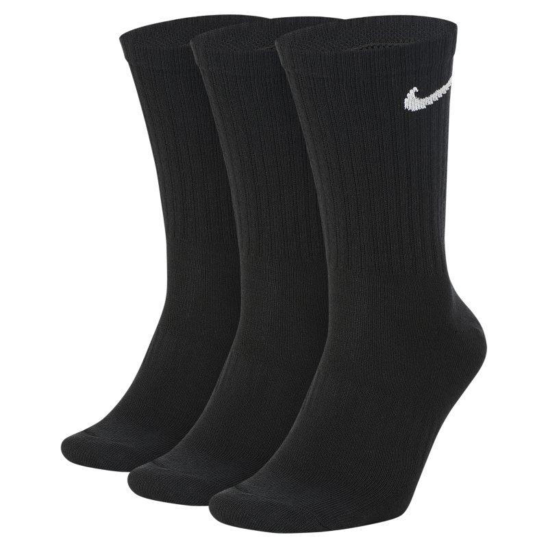 Nike Everyday Lightweight Calcetines largos de entrenamiento (3 pares) - Negro
