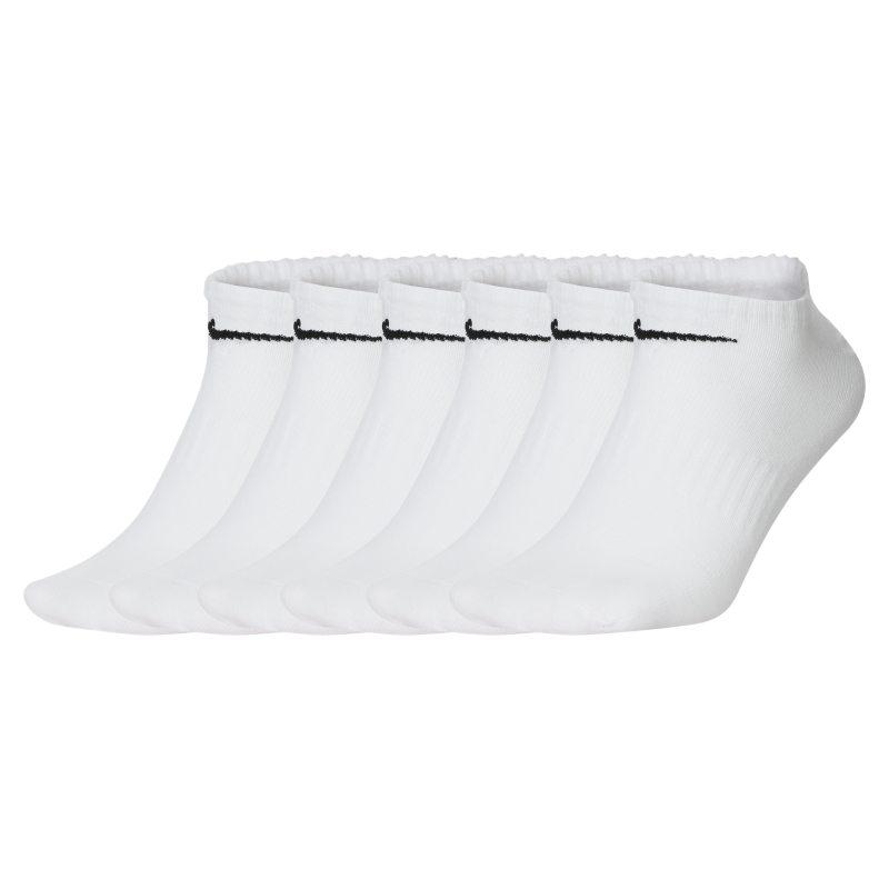 Nike Everyday Lightweight Calcetines cortos de entrenamiento (6 pares) - Blanco