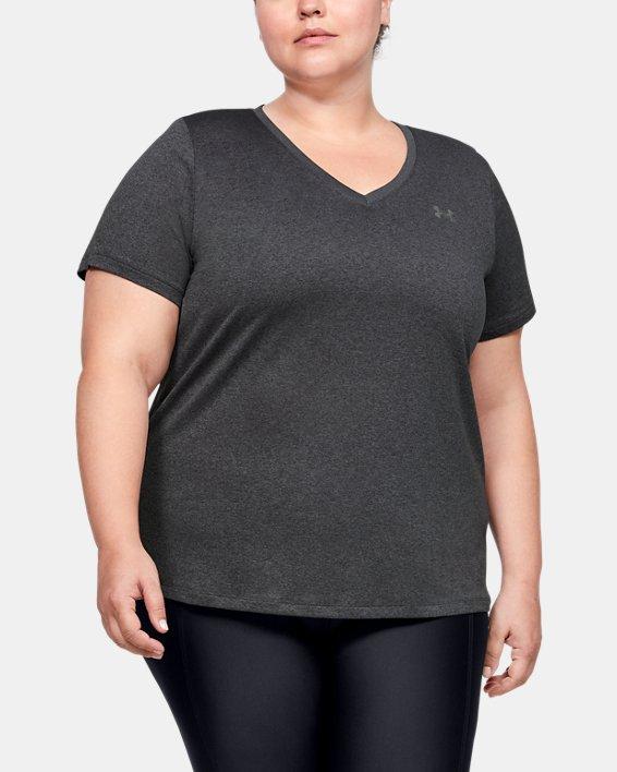 Camiseta de manga corta con cuello de pico UA Tech™ para mujer