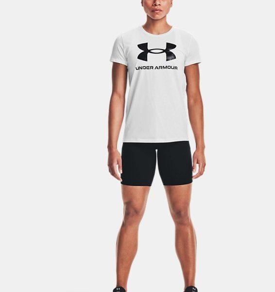 Camiseta de manga corta con estampado UA Sportstyle para mujer