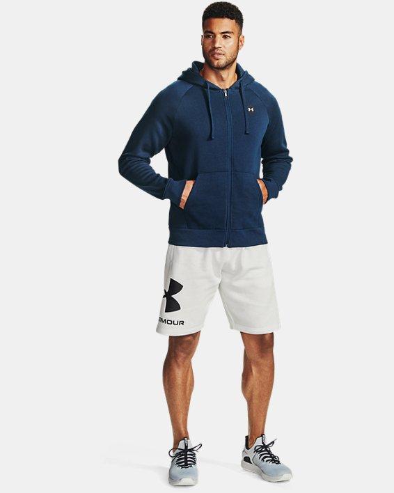 Sudadera con capucha y cremallera completa de tejido Fleece UA Rival para hombre