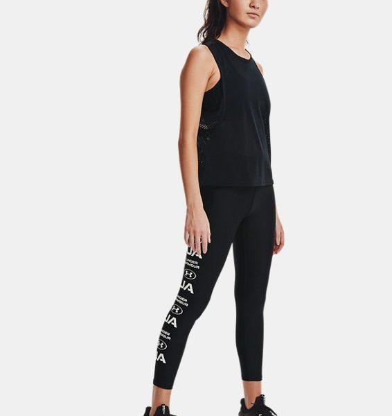 Leggings HeatGear® Armour No-Slip Waistband Graphic Ankle para mujer